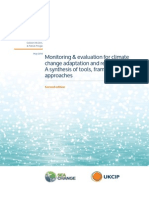 Monitoring & evaluation for climate change adaptation and resilience