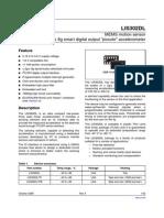 LIS302DL MEMS Accelerometer