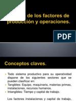 Calculo de Los Factores de Producción y Operaciones