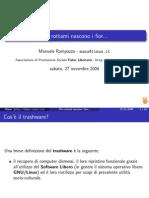 Presentazione LinuxDay2004 DaiRottamiNasconoIFior