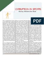 Corruption in Sports November 2011