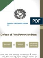 Penyuluhan Post Power Syndrome