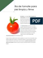 Mascarilla de Tomate Para Una Piel Limpia y Firme