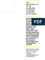 The Relevance of Ict in Achieving Students Rsv