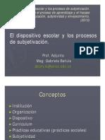 Dispositivo Escolar y Procesos de Subjetivación
