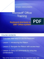 Microsoft® Office Excel Shortcut