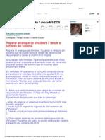 Reparar Arranque de Win 7 Desde MS-DOS
