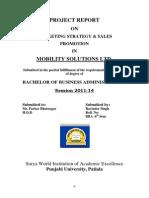 Msl Project Marketing (Ravinder Dehar)