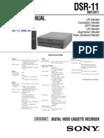 Sony DSR-11 Service (Repair) Manual