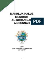 MAKHLUK HALUS MENURUT AL-QURAN DAN  AS-SUNNAH