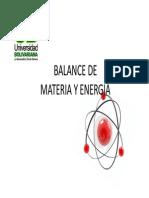 Balance de Materia y Energia