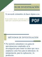 MÉTODOS-TÉCNICAS DE INVESTIGACIÓN
