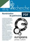 Numérisation du patrimoine culturel / Culture & Recherche 2008