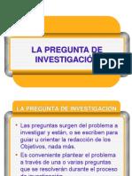 LA PREGUNTA DE INVESTIGACIÓN