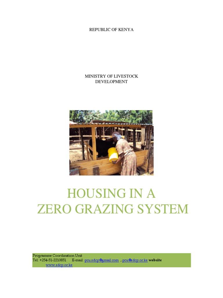 Zero grazing housing calf dairy cattle