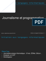 Initiation Aux Langages Informatiques - 1 - Introduction