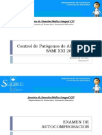 Control de Patógenos Infecciosos de Alto Riesgo Sami XXI 2014