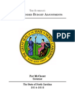 Proposed FY 2015 NC Budget