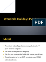 Wonderla Holidays Pvt