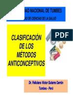 Clasificacion de Los Metodos Anticonceptivos