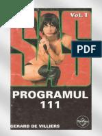 55454699 Gerard de Villiers Colecția S a S Programul 111 Volumul 1