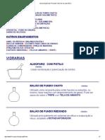 Apresentação Das Principais Vidrarias de Laboratório