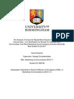 sania dawood - msc  dissertation