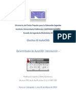 Generalidades de AutoCad