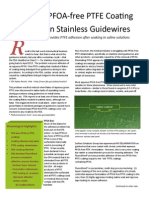 Perfecting PFOA-free PTFE Coating Adhesion on Stainless Guidewires
