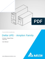 Delta UPS - Amplon Family  N Series, Single Phase 1/2/3 kVA