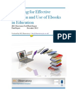 Preparing for Effective Adoption and Use of eBooks in Education -JISC 2012