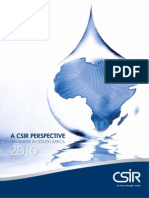 CSIR - 2010 - A CSIR Persective on Water in South Africa