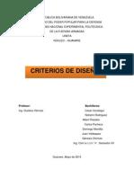 Trabajo de Pavimentos Criterio de Diseño