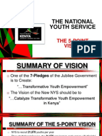 The National Youth Service; The 5 Point Vision