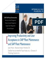 0906 Improving Productivity and User Acceptance Within SAP Plant Maintenance and SAP Material Management