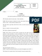 Teste de Português 7º Ano - o Rei Leandro