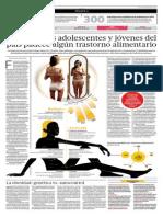 El 10% de Adolescentes y Jóvenes Del País Padece Algun Trastorno Alimentario