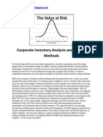 Corporate Inventory Analysis and Costing Methods