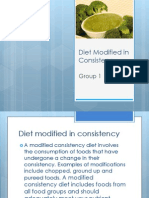 Diet Modified in Consistency