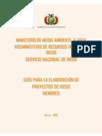Guia Elaboracion de Proy. Riego Menor