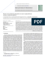 Bovine Serum Albumin Adsorption on Nano-rough Platinum
