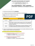 Atps - 2º Bim - 2014-1 - Algoritmos e Programação - Prof Fernanda Amaral