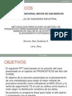 Pronosticos CASO APLICACION