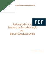 Critica ao Modelo Auto-Avaliação 2º trabalho Gomerzinda