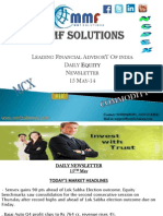 MMF Solutions Daily Equity Newsletter 15 May-14