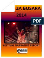 Sauti za Busara 2014 - Festival Narrative Report