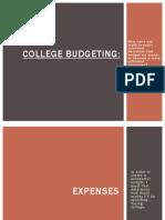college budgeting