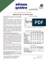 Comptes nationaux du 1er trimestre 2014