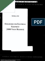 NEMA 250 Enclosures for Electrical Equipment 100 Volts Maximum