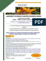 Invitation Lancement Cleantech BA